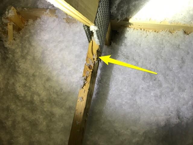 Attic Inspection with cracked truss member in Alpharetta, GA